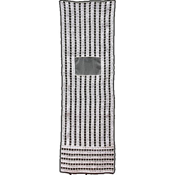 "2013 31.5x9.5"" Silk organza, tulle, paper, rayon thread"